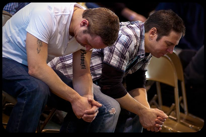 catholic men praying