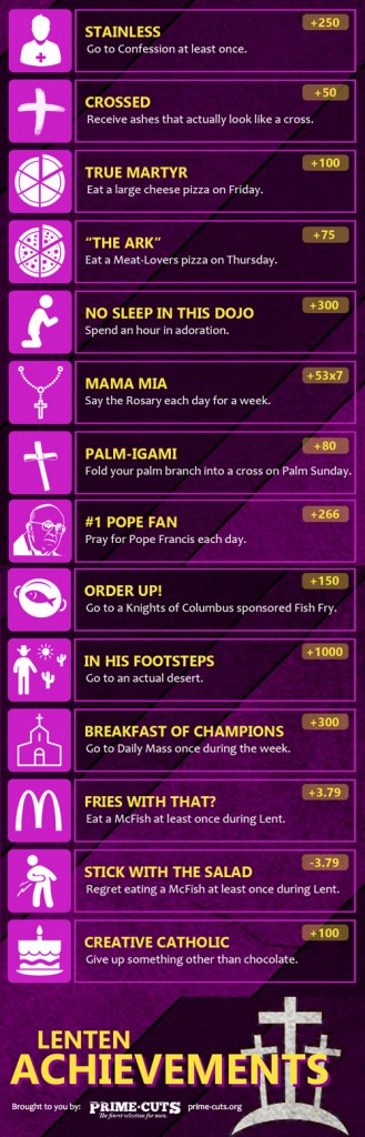 Lent achievements full